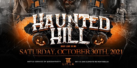 HAUNTED HILL 21+ tickets