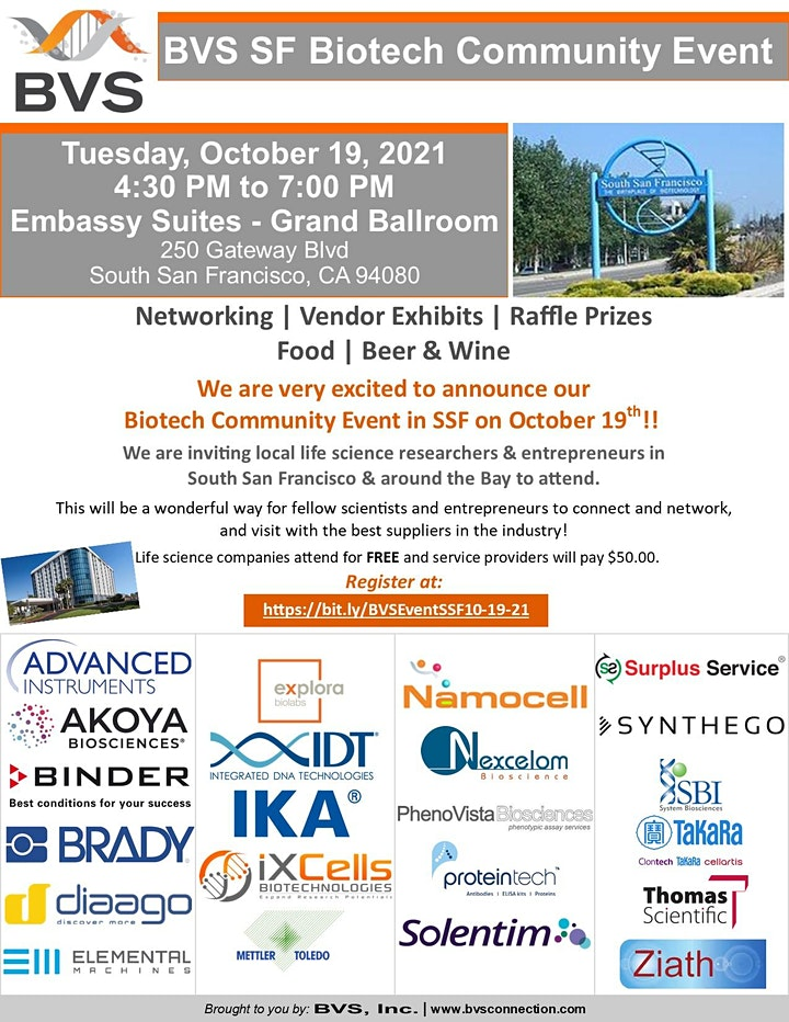 BVS' SSF Biotech Community Event image