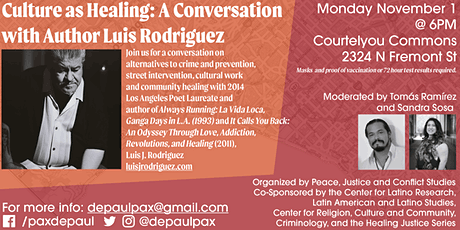 Culture as Healing: A Conversation with Author Luis Rodriguez tickets