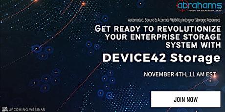 Get ready to revolutionize your enterprise storage system! tickets