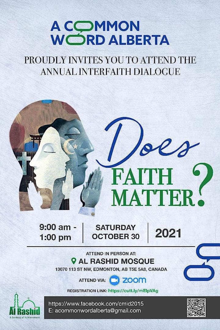 Christian  - Muslim Dialogue - Does Faith Matter? image