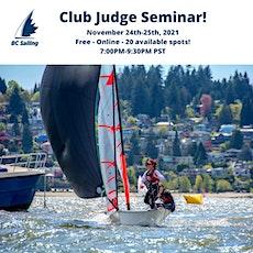 BC Sailing - Club Judge Seminar 2021 tickets