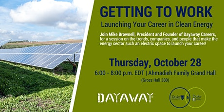 Getting to Work: Launching Your Career in Clean Energy tickets