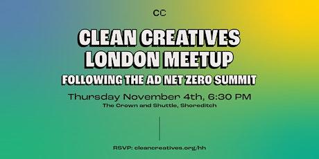 Clean Creatives London Meetup After Ad Net Zero Summit tickets