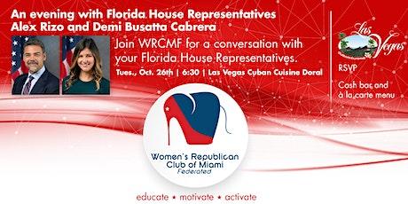 WRCMF Forum with State Representatives Alex Rizo and Demi Busatta Cabrera tickets