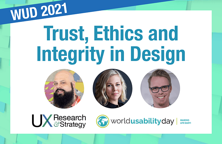 World Usability Day (WUD) 2021: Trust, Ethics and Integrity in Design image