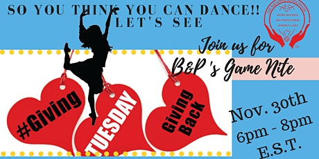 """""""So You Think You Can Dance"""" Giving Tuesday Fundraiser! tickets"""