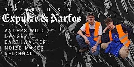 3 YEARS U.S.R w/ Expulze & Narfos Tickets