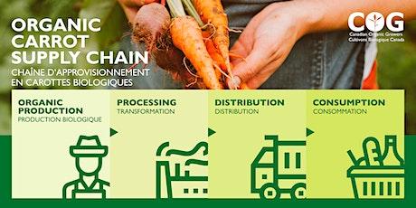 Organic Carrot Supply Chain — Chaîne d'approvisionnement en carotte bio tickets