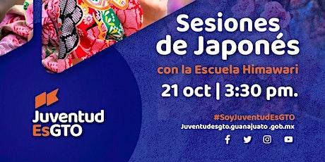 Taller de Japonés HIMAWARI & JuventudEsGto Sesión 7 entradas