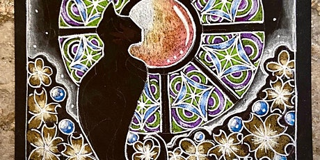 Black Cat Cathedral  Zentangle Inspired Class tickets