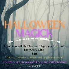 Halloween Magick: History of Halloween with Hallieween tickets