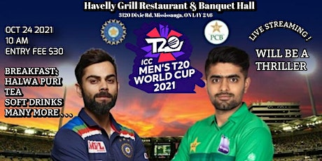 ICC CRICKET WORLDCUP PAKISTAN VS INDIA (OCTOBER 24TH 9:30 AM)@HAVELLY GRILL tickets