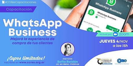 WhatsApp Business entradas