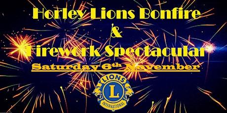 Horley Lions Bonfire & Firework Spectacular tickets