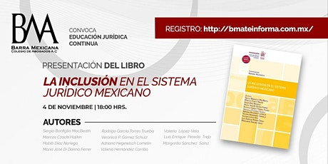 LA INCLUSIÓN EN EL SISTEMA JURÍDICO MEXICANO tickets