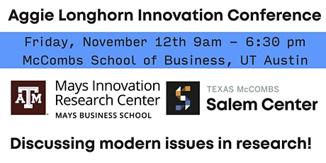 Aggie Longhorn Innovation Conference tickets