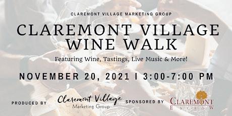 Claremont Village Wine Walk tickets