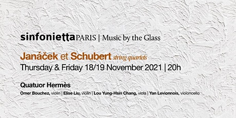 ⟪Music by the Glass⟫ with Quatuor Hermès | Friday, 19 November 2021 tickets