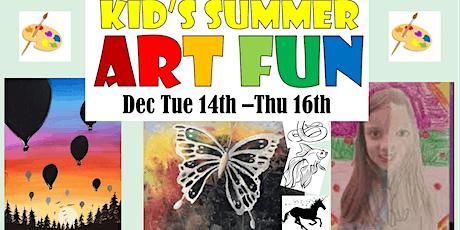 Kids Summer Holidays Art Fun 3 Day  Workshop tickets