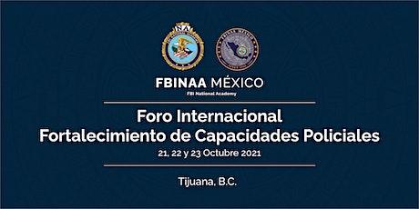 Foro Internacional Fortalecimiento de Capacidades Policiales tickets