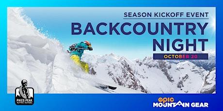 Backcountry Night - Colorado Springs tickets