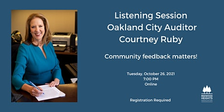 Listening Session with Oakland City Auditor, Courtney Ruby tickets