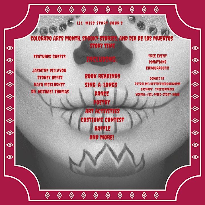 Colorado Arts Month, Spooky Stories, and Dia De Los Muertos Story Time image