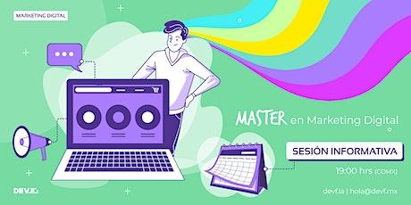 Sesión Informativa Master en Marketing Digital  9-2 boletos