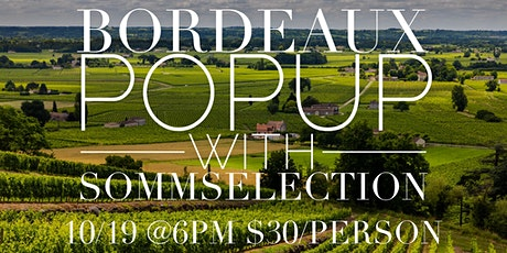 Bordeaux Popup with SommSelection tickets