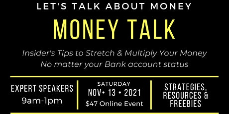 Money Talk: Create a Plan to Stretch & Multiply Your Money tickets