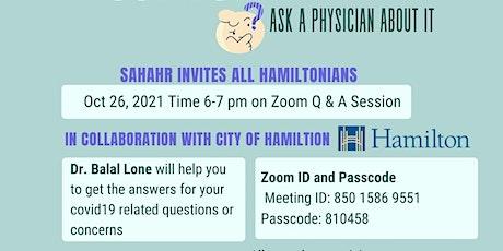 SAHAHR - COVID-19 Vaccine Q&A tickets