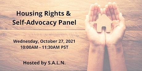 Self-Advocacy Panel & Presentation: Housing Rights & Deinstitutionalization tickets