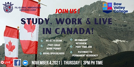 Study, Work, & Live in Canada with Bow Valley College tickets