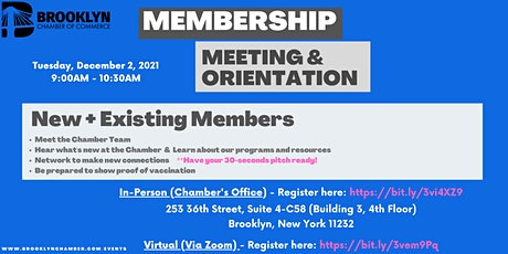 Membership Meeting and Orientation tickets