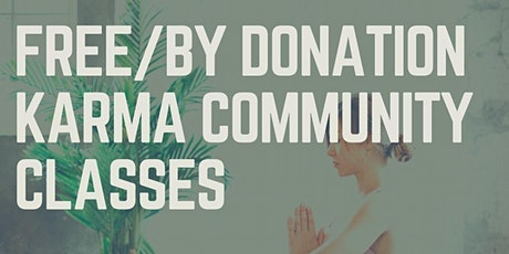 Free or by donation community karma yoga classes tickets
