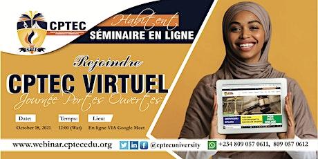 Journée portes ouvertes virtuelle de la CPTEC avec le Directeur académique, tickets
