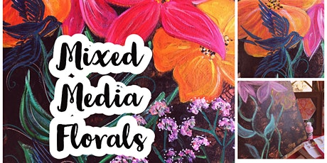 Mixed Media Florals - Sip and Paint Evening tickets