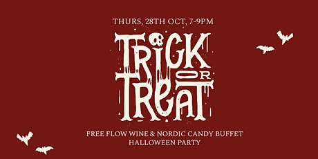 Hjem presents: Trick or Treat (Free-flow wine & Nordic Candy Buffet) tickets