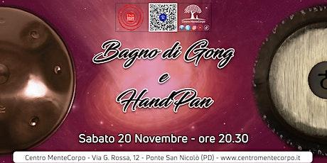 Bagno di Gong e HandPan - 20 Novembre 2021 biglietti