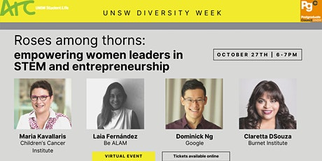 Roses among thorns: empowering women leaders in STEM and entrepreneurship tickets