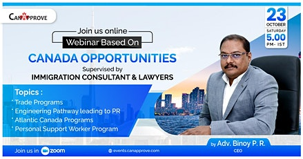 Free Webinar on Canada Opportunities | Canada Immigration | Canapprove tickets
