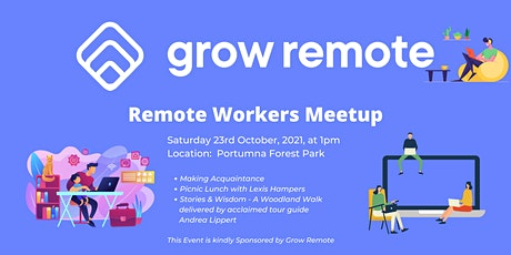 Grow Remote - Meetup  - Portumna Forest Park, Galway tickets