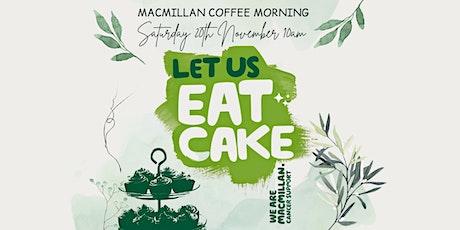 Macmillan Coffee Morning Fundraiser 20th November 10am @ The OCB tickets