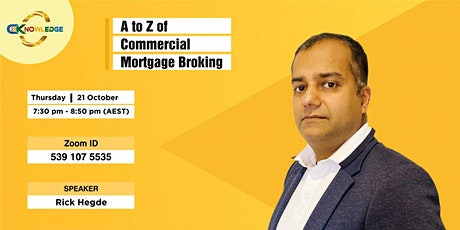 A to Z of Commercial Mortgage Broking tickets