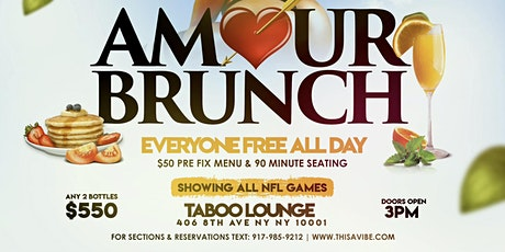 Sunday Brunch at Taboo lounge tickets