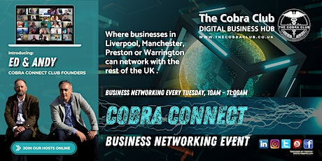 Cobra Connect, Business Networking Event, Liverpool, Warrington, Manchester tickets