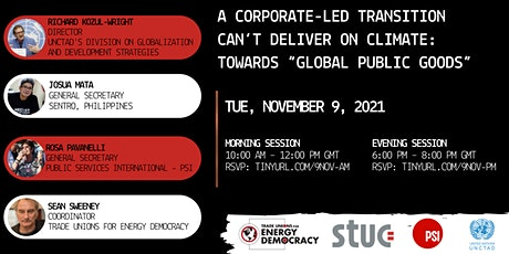 Corporations Can't Deliver on Climate: Toward Global Public Goods (morning) tickets