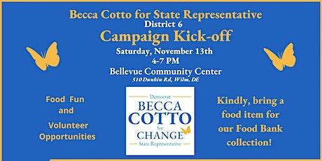 Becca Cotto's Campaign Kick-off tickets