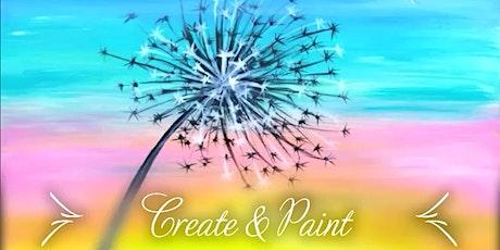 Create & paint, Rainbow wishes acrylics workshop- Creative beginnings tickets